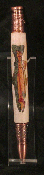 Copper plated Inlayed Trout Twist Pen